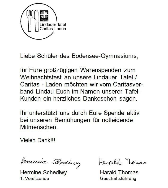 Kauf eins mehr - Bodensee-Gymnasium Lindau