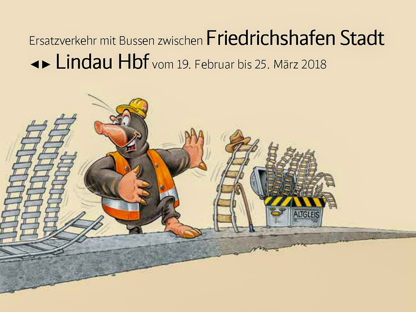 Schienenersatzverkehr vom 19.02. – 25.03.