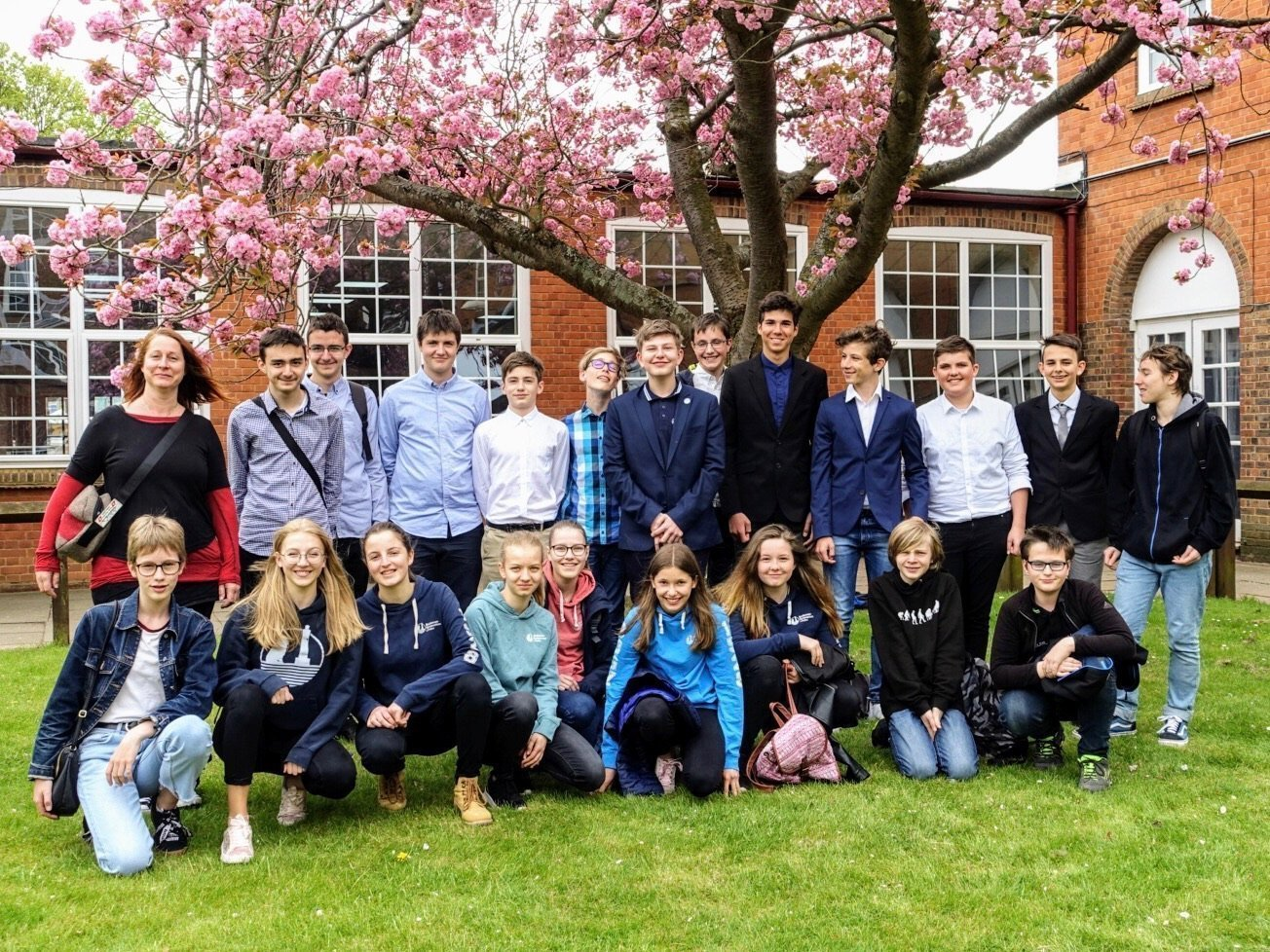 Besuch an der Hit­chin Boys' School