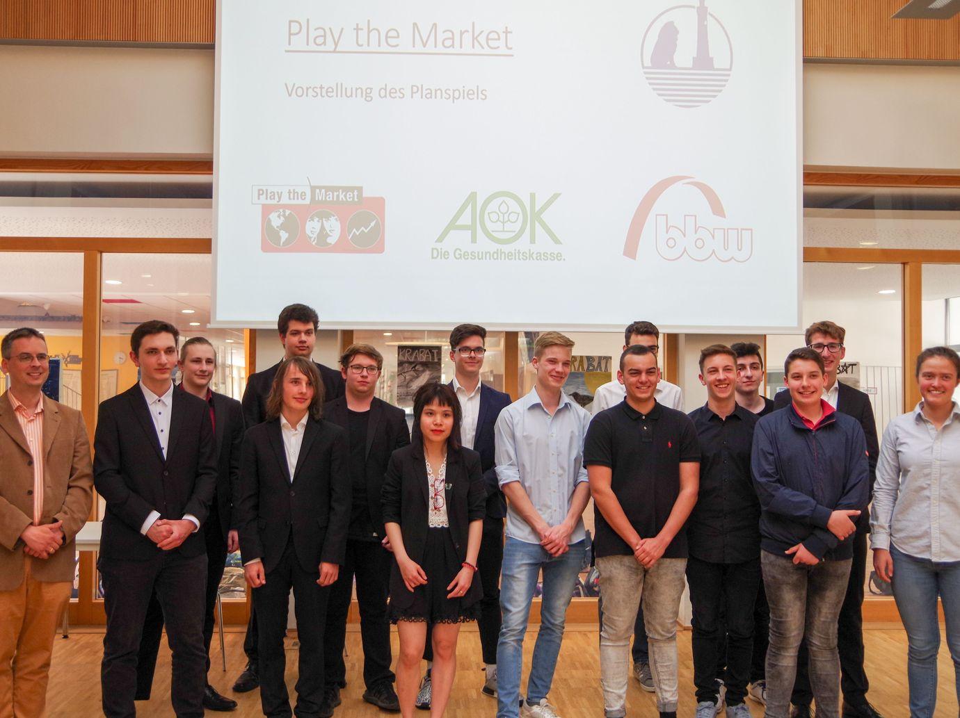 """BOGY-Teams präsentieren ihre Strategie bei """"Play the market"""""""