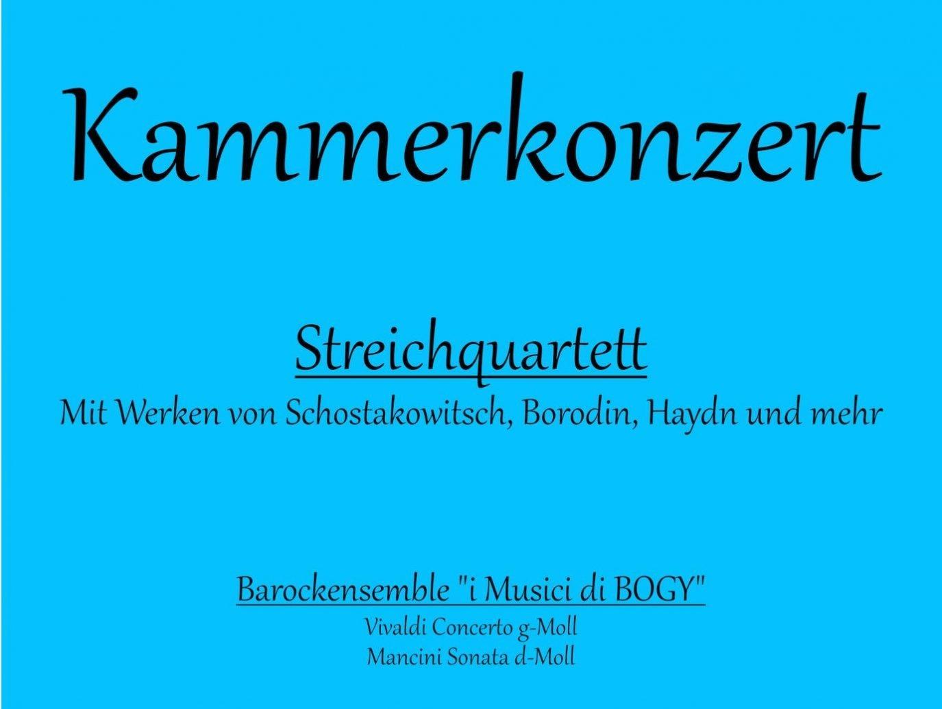 Einladung zum Kammerkonzert im Gewölbesaal